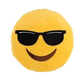 Sunglasses Wearing Smiley Face Emoticon Plush Cushion By A4TECH