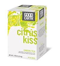 Good Earth Citrus Kiss Green Tea - 18 bags per pack -- 6 packs per case.