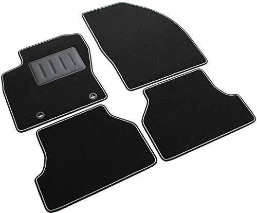 to-Fußmatten Sprint01304, rutschfest, zweifarbiger Rand, Absatzschoner aus Gummi, passgenau für Ford Focus II, Baujahr: 2004 bis 2011 ()