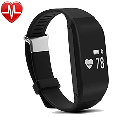 Fitness Tracker, Willful Activity Tracker with Heart Rate Monitor Waterproof Pedometer Smart Bracelet Fitness Watch Band Wristband for iPhone Android Smartphones for Kids Women Men Swimming Walking from Willful