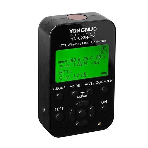 Yongnuo YN-622N-TX i-TTL kabellose Funkauslöser für Nikon D70, D70S, D80, D90, D200, D300S, D600, D700, D800, D3000, D3100, D3200, D5000, D5100, D5200, D5300, D7000, D7100Kameras Sunpak Digital-batterie