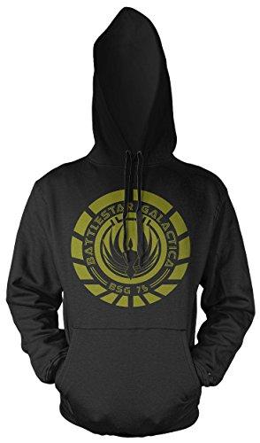 Uglyshirt87 Battlestar Galactica Männer und Herren Kapuzenpullover | Spruch Vintage Cylon Geschenk | M1 (XL, (Battlestar Galactica Uniform Kostüm)