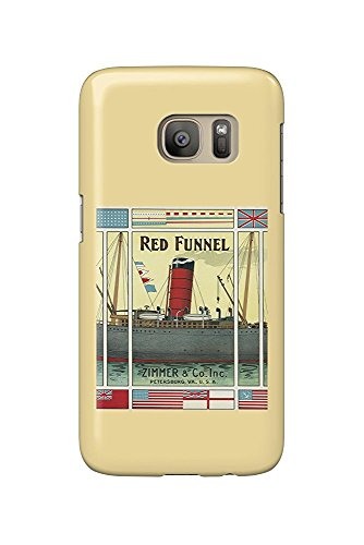 Petersburg, Virginia - Red Funnel Brand Tobacco Label (Galaxy S7 Cell Phone Case, Slim Barely There) Red Funnel