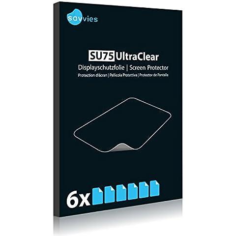 6x Displayschutzfolie für Huawei MediaPad X1 Folie Schutzfolie Displayfolie - Klar