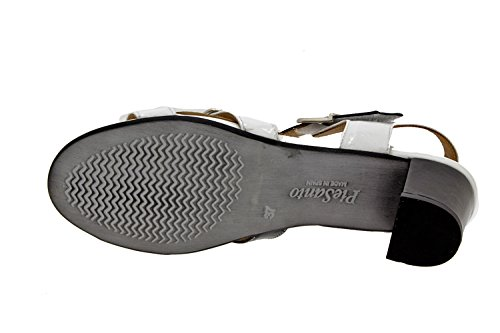 Scarpe donna comfort pelle Piesanto 8496 sandali larghezza speciale Blanco