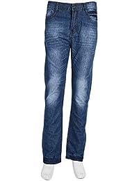 44726bd082 Yogasada Moda Casual para Hombre Jeans Bootcut Acampanado Media Denim  Pantalones de Pierna Ancha Todos los