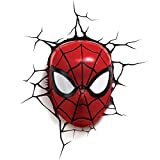 3D Light FX Applique Murale LED Décoration Marvel Spiderman 3D, 816733002224, Red