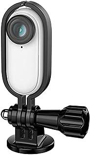 Hensych Supporto per telaio con adattatore in lega di alluminio con vite per fotocamera Insta360 Go,per selfie
