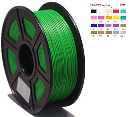 Polysmart PLA-UP Filament 1,75 mm 1kg, fuer 3D Drucker und Stift, Erweiterte formel, strenge qualitaetskontrolle. Gr¨¹n/green