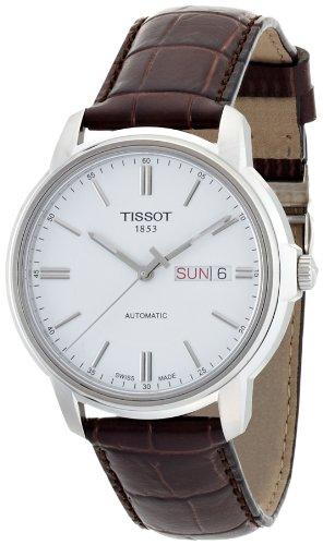 Herren-Armbanduhr XL Analog Automatik Leder T065.430.16.031.00