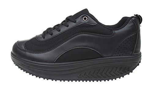 MAPLEAF , Chaussures de marche nordique pour homme Noir