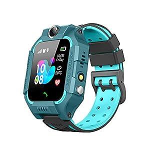 BOERSAND Kinder Smart Watch Phone, Kindersmartwatch für 3-12 Jährige Junge Mädchen mit SOS-Kamera Taschenlampe Touch-Screen-Spiel für Kinder Geschenk-Lernspielzeug,Dark Blue-OneSize