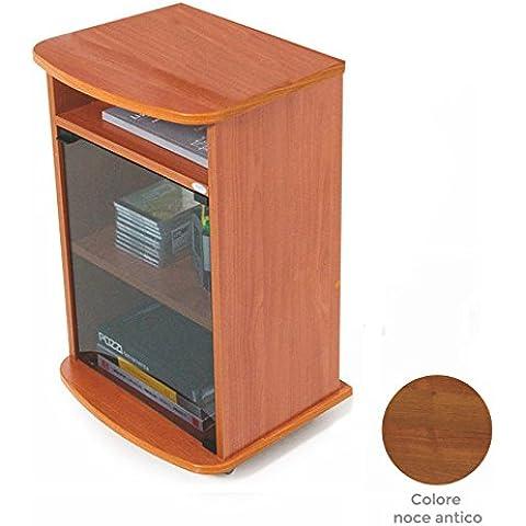 Carrello porta Tv mobile color noce antico