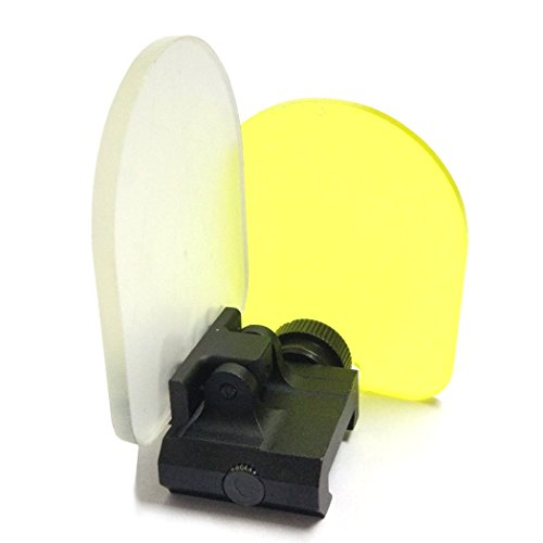 Cubierta de lente alcance táctico, QMFIVE Airsoft pantalla Protector alcance plegable Reflex...