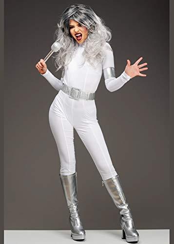 Magic Box Int. Weißes Glam Rock Babe Kostüm der Frauen der 1970er Jahre Small (UK 8-10) (Jahre 1970er Der Kostüme)