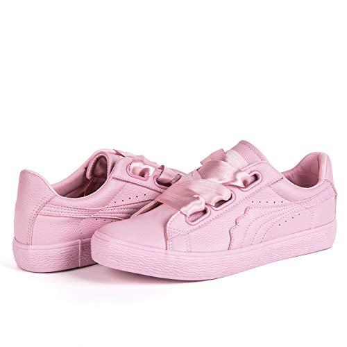 huge selection of 12b1f c2fbb Hotroad Womens Fashion Sneakers Ladies Clearance Casual Pink Sneaker Low  Top Walking Scarpe da Tennis,
