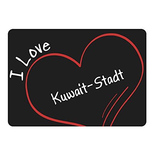 d Modern I Love Kuwait-Stadt schwarz - Lustig Witzig Sprüche Party Computer Mauspad ()