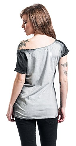 Rock Rebel by EMP More Rules Girl-Shirt Schwarz/Grau Schwarz/Grau