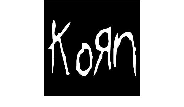 Korn Vinyl Decal Sticker - White - 6 inch size by