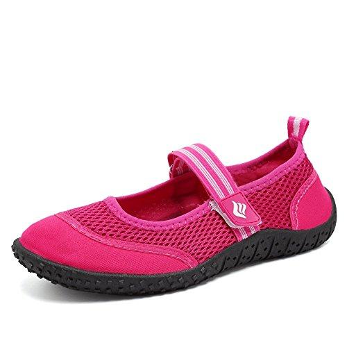 Fanture Ladies Men Aqua Shoes Nuotare Scarpe Da Spiaggia Scarpe Da Bagno Attive Rosse