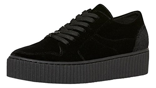 Windsor Smith Oracle Velvet, Sneaker a Collo Alto Donna Nero