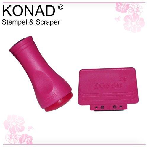 Konad ® Stamping Set - Stempel + Scrapper (Schaber) für perfektes stempeln