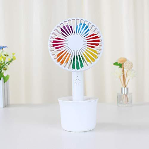 Sieben-Farbige Blume Mini-Fan-Zeichentrickschüler Usb Mini-Fan Wiederaufladbare Mini-Desktop Kleine Fan-Größe: 108 * 106 * 230Mm