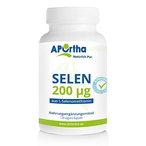 APOrtha® Selen Kapseln | 120 Stück | Vegan| 200 µg aus L-Selenomethionin | allergenfrei | in Deutschland hergestellt
