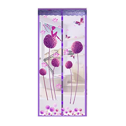 Magnetvorhang Insektenschutz, Fliegengitter Tür Magnet Vorhang Fliegenvorhang Türvorhang Kein Lärm, Magnetic Moskito Netz Einfache Installation (2 Größen / 56 Stile Optional)