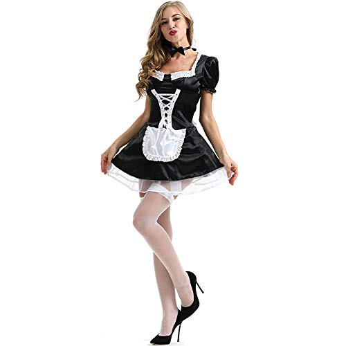 Kostüm Maid Bar - Alician Oktoberfest-Kleidung Bar Kellnerin Uniform Sexy Dessous Dienstmädchen Kostüm Rollenspiele Sexy Dienstmädchen Kostüm 2158 Maid L