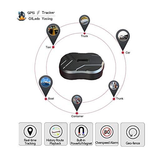 QILade Yzcing Localizzatore GPS Impermeabile in Tempo Reale Localizzatore GPS di Standby a 90 Giorni Monitoraggio del Veicolo 3G Magnete Voice Monitor App Gratuita per Auto Moto/Facile da installare