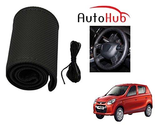 Auto Hub Premium Quality Car Steering Wheel Cover For Maruti Suzuki Alto 800 - Black  available at amazon for Rs.199