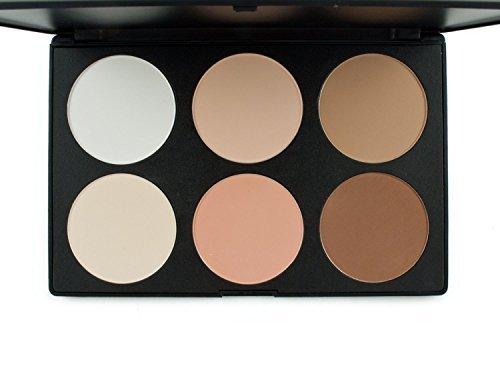 Butterme Professional 6 Colors Makeup Contour Kit Highlight and Bronzing Powder Palette - Cosmetic Contour Camouflage Concealer Face Powder Palette Set by Butterme