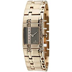 zz5002i Zzero Women's Quartz Watch Quandrante Rose Gold Stainless Steel Strap