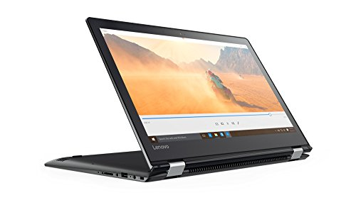 Lenovo Yoga 510 35,6 cm (14,0 Zoll Full HD IPS Touch) Convertible Laptop (Intel Core i7-7500U, 8GB RAM, 128GB SSD, AMD Radeon R5 M430 2GB, Windows 10 Home) schwarz (I7 14 Lenovo Laptop)