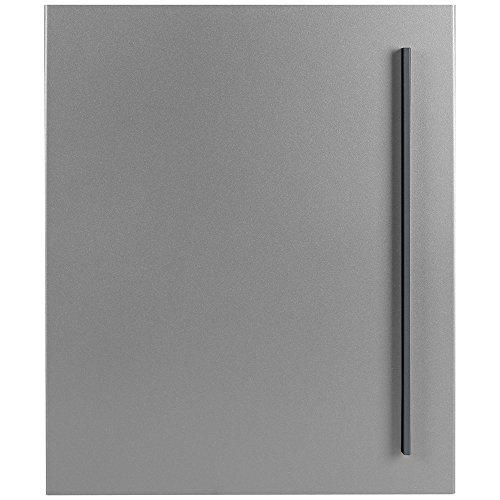 Design-Briefkasten mit Zeitungsfach 12 Liter silber seidenglanz (RAL 9006) MOCAVI Box 115 weißaluminium Wandbriefkasten Postkasten - 6