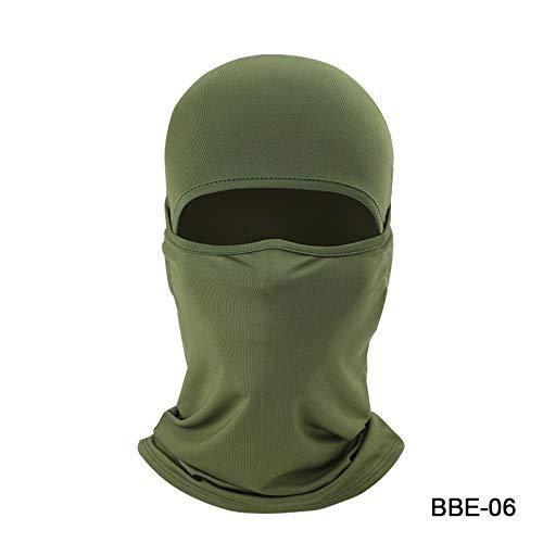 Winddicht Neue Motorrad-Gesichtsmaske Lycra Moto Sturmhauben Biker Face Shield Skimaske Stopper windundurchlässige Motorradmaske Balaclava Face Mask Ski-Maske (Color : New Green) -