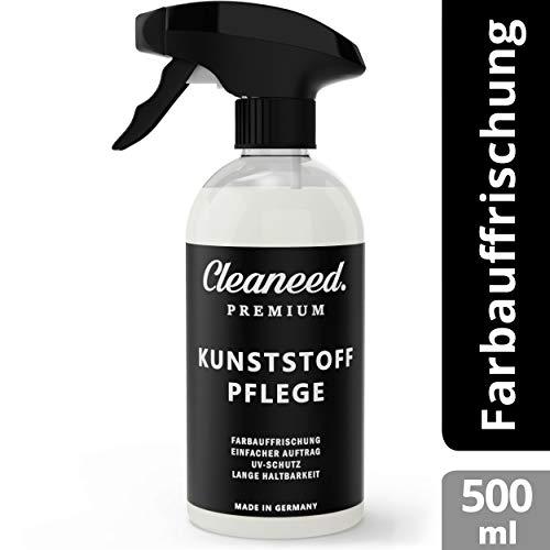 Cleaneed Premium Kunststoffpflege - Made IN Germany - Farbauffrischung, UV-Schutz, Lange Haltbarkeit, Einfacher Auftrag, Matt