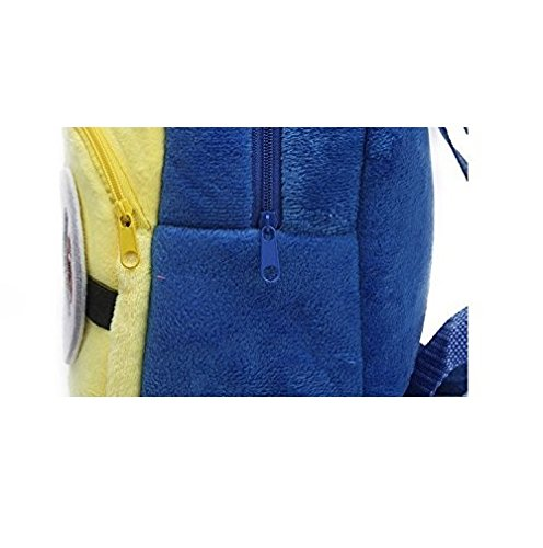 Frantic Kids Velvet Fabric Yellow School/Nursery/Picnic/Carry/Travelling Bag-2 to 5 Age