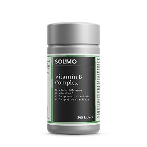 Marca Amazon - Solimo Complemento alimenticio a base de complejo de vitaminas B, 365 comprimidos