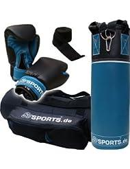 ScSPORTS DG02 Box-Set II. Wahl für Jugendliche Boxsack Boxhandschuhe Boxbandagen Tasche 5,5 kg 60 cm Kunstleder 10-16 Jahre