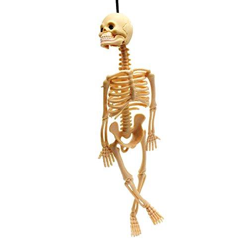 skgardeniamy Lustige Trick Schädel Skelett Halloween Modell Spielschlüssel Anhänger Key Party Dekor Spielzeug Halloween Geschenk (Gelb)