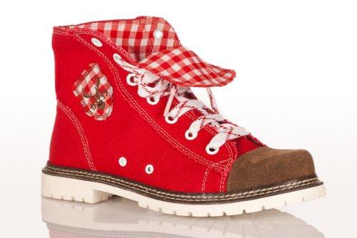 Trachten Boots - JACKY - rot/braun/rot, Größe 40 (Braun Trachten Boots)