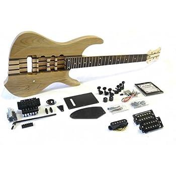 e gitarren bausatz guitar diy kit ml factory esche through neck durchgehender hals amazon. Black Bedroom Furniture Sets. Home Design Ideas