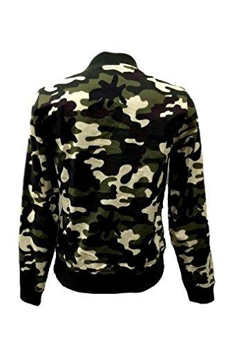 Lange Ärmel Camouflage Gezippt Camouflage Dünn Army Militär Jacke Zipjacke übergangs Bomberjacke - 2