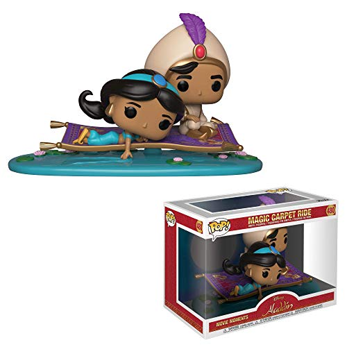 Funko- Pop Vinyl 2-Pack: Movie Moments: Aladdin: Magic Carpet Ride Viaje en Alfombra Figura Coleccionable, Multicolor (35760)
