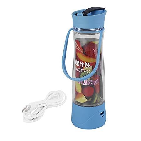 ICOCO Juicer Tragbare multifunktionale Entsafter, Saftbecher, abdichten, 450 ml, herausnehmbar, Cocktail, Kaffee, Tee, Fruchtsaft und wischen