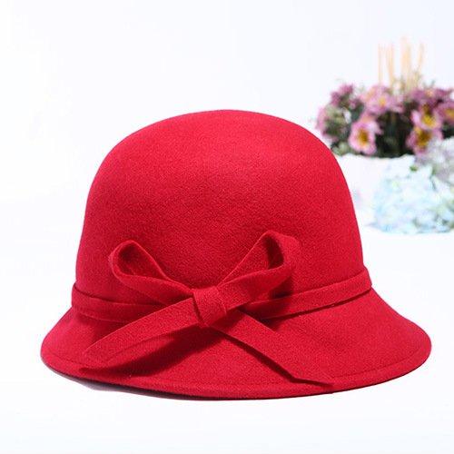 SUNWUKONG Wolle warme Mütze Fischer Hut/Lady in Herbst und Winter Hüte, 3