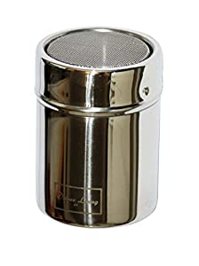 Deluxe Living Ltd Stainless Chocolate Shaker Icing Sugar Cinnamon Salt Cocoa Flour Coffee Sprinkler Sprinkles Sifter Mesh Top with Stay Fresh System Lid