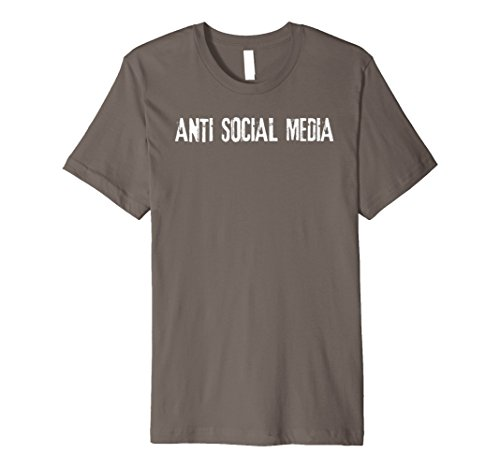 Anti Social Media Shirt Funny Geek Nerd Internet -